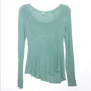 Intimately Free People Green Super Scoop Top S M
